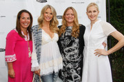 (L-R) Samantha Yanks, Christie Brinkley,  Lauren London and Kelly Rutherford attend Hamptons Magazine Celebration of The Children's Justice Campaign Of Joan & George Hornig on August 16, 2014 in Water Mill, New York.