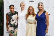 (L-R) Mashona Tifrere,  Kelly Rutherford, Patrice Lenowitz and Joan Hornig attend Hamptons Magazine Celebration of The Children's Justice Campaign Of Joan & George Hornig on August 16, 2014 in Water Mill, New York.