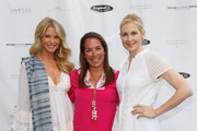 (L-R) Christie Brinkley, Samantha Yanks and Kelly Rutherford attend Hamptons Magazine Celebration of The Children's Justice Campaign Of Joan & George Hornig on August 16, 2014 in Water Mill, New York.