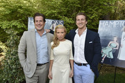 Zach Vichinsky, Tracy Anderson, Cody Vichinsky attend the Hamptons Magazine Celebration of Its Memorial Day Kick-Off Event With Cover Star Tracy Anderson on May 23, 2015 in Southampton, New York.