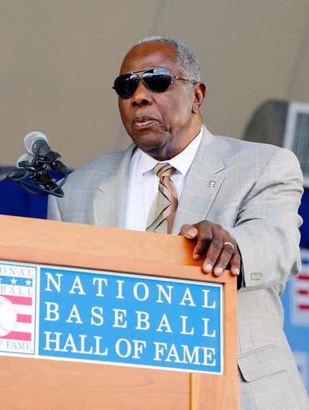 hank aaron pictures baseball hall of fame induction