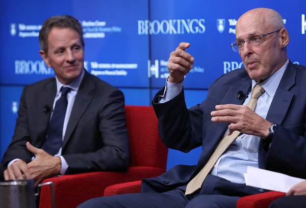 Former Federal Reserve Board Chairmans Bernanke, Paulson, And Geithner Discuss The Global Financial Crisis Of 10 Years Ago