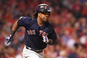 Hanley Ramirez Division Series - Boston Red Sox v Cleveland Indians - Game One