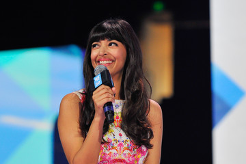 Hannah Simone We Day California at Oracle Arena