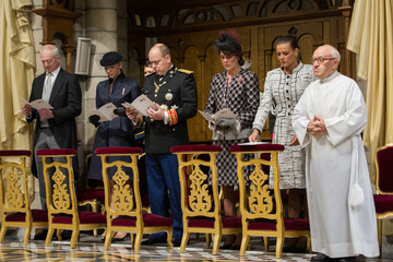 Hans-Adam II Monaco National Day 2012 - Celebration Of Mass At Cathedrale Notre-Dame Immaculee