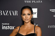 """Karrueche Tran attends as Harper's BAZAAR Celebrates """"ICONS By Carine Roitfeld"""" at the Plaza Hotel on September 7, 2018 in New York City."""