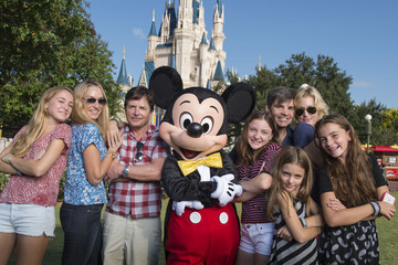 Harper Stephanopoulos Michael J. Fox, Tracy Pollan, George Stephanopoulos And Alexandra Wentworth Visit Disney World
