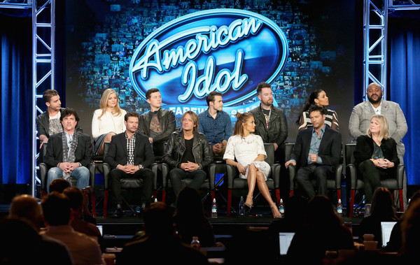 2016 Winter TCA Tour - Day 11 [scott borchetta,harry connick jr.,keith urban,jennifer lopez,ryan seacrest,nick fradiani,trish kinane,david cook,l-r,event,performance,stage,convention,music,heater,performing arts,crowd,competition,stage equipment,winter tca]
