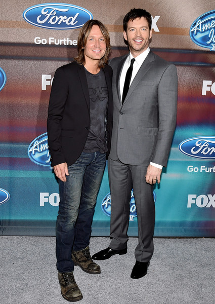 'American Idol XIV' Finalist Party [suit,premiere,event,formal wear,car,party - arrivals,keith urban,harry connick jr.,american idol xiv,california,los angeles,the district,fox,l,finalist party]