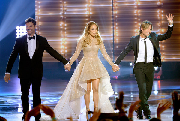 FOX's 'American Idol' Finale For The Farewell Season - Show [performance,event,fashion,dress,fun,performing arts,formal wear,suit,gesture,ceremony,artists,keith urban,jennifer lopez,harry connick jr.,l-r,hollywood,dolby theatre,california,fox,american idol finale for the farewell season - show]