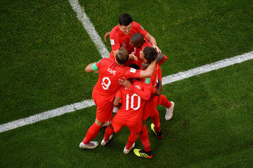 Harry Kane Harry Maguire Sweden vs. England: Quarter Final - 2018 FIFA World Cup Russia