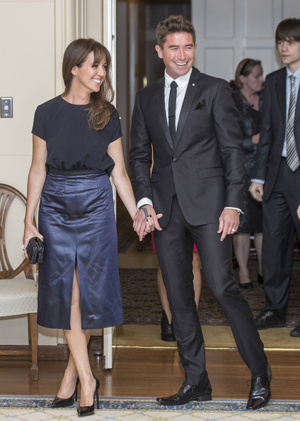 Prince William and Kate Middleton in Canberra — Part 7 [suit,clothing,formal wear,white-collar worker,event,fashion,tuxedo,dress,footwear,leg,duke,george,sheree murphy,peter cosgrove,duchess,excellency,australia,cambridge,duchess of cambridge tour australia and new zealand,reception]