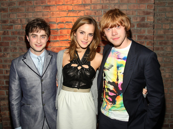 "Actors Daniel Radcliff, Emma Watson, and Rupert Grint attend the ""Harry Potter and the Half Blood Prince"" premiere after party at American Museum of Natural History on July 9, 2009 in New York City."