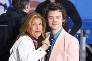 "Hoda Kotb and Harry Styles pose On NBC's ""Today"" at Rockefeller Plaza on February 26, 2020 in New York City."
