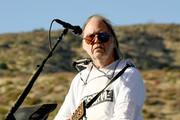 Neil Young performs at Harvest Moon: A Gathering to benefit The Painted Turtle and The Bridge School at Painted Turtle Camp on September 14, 2019 in Lake Hughes, California.