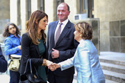 Harvey Weinstein attorney Donna Rotunno (L) shakes hands with attorney Gloria Allred (R) after Weinstein's appearance in criminal court on sexual assault charges on July 11, 2019 in New York City. Weinstein is facing rape and sexual assault charges from two separate incidents.
