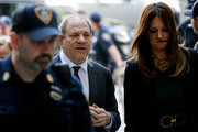 Movie producer Harvey Weinstein and attorney Donna Rotunno (R) arrives ahead of Weinstein's appearance in criminal court on sexual assault charges on July 11, 2019 in New York City. Weinstein is facing rape and sexual assault charges from two separate incidents.