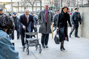 Harvey Weinstein with attorney Donna Rotunno arrives in court on January 28, 2020 in New York City. Weinstein, a movie producer whose alleged sexual misconduct helped spark the #MeToo movement, pleaded not-guilty on five counts of rape and sexual assault against two unnamed women and faces a possible life sentence in prison.
