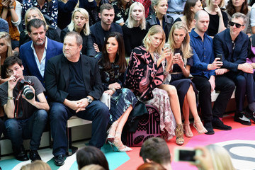 Harvey Weinstein Front Row at Burberry