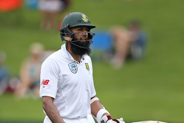 Hashim Amla New Zealand v South Africa - 3rd Test: Day 1