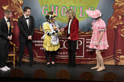 Elizabeth Banks participates in a roast as Hasty Pudding Theatricals Honors Elizabeth Banks as 2020 Woman of the Year at Farkas Hall on January 31, 2020 in Cambridge, Massachusetts.