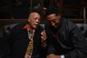 Quincy Jones and American basketball player Scottie Pippen attend the Haute Living celebration of Quincy Jones with Rolls-Royce and LOUIS XIII at Mr Chow on February 07, 2019 in Beverly Hills, California.