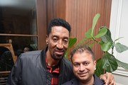 Scottie Pippen (L) and  Kamal Hotchandani attend the Haute Living celebration of Quincy Jones with Rolls-Royce and LOUIS XIII at Mr Chow on February 07, 2019 in Beverly Hills, California.