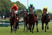 Miss Marjurie ridden by Paul Hanagan (orange cap) races clear to win The 888sport Pinnacle Stakes at Haydock Racecourse on May 30, 2015 in Haydock, England.