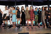 (L-R) Carla Hall, Coco Rocha, Sade Baderinwa, Herizen Guardiola, Mandy Moore, Sandra Lee, Hannah Storm, Shiri Appleby,  Constance Zimmer, Soledad O'Brien, Mehmet Oz and Lisa Oz attend the Hearst launch of HearstLive, a multimedia news installation, at 57th Street & 8th Avenue on September 27, 2016 in New York City.