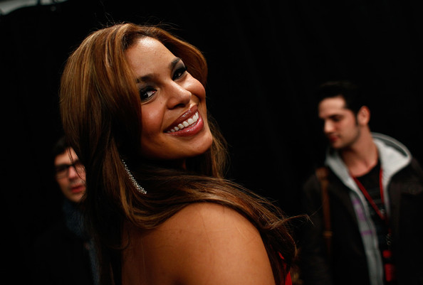 Singer Jordin Sparks backstage at the Heart Truth Fall 2010 Fashion Show