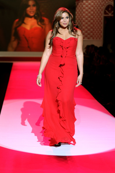 Singer Jordin Sparks walks the runway at the Heart Truth Fall 2010 Fashion Show during Mercedes-Benz Fashion Week at The Tent at Bryant Park on February 11, 2010 in New York City.