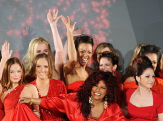 Rebecca Romijn Christie Brinkley The Heart Truth's  Red Dress Collection 2012 Fashion Show - Runway