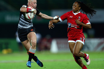 Heather Fisher Emirates Dubai Rugby Sevens: HSBC Sevens World Series - Day One