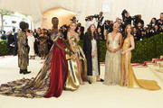(L-R) Alek Wek, Jasmine Sanders, Valerie Messika, Kiersey Clemons and Olivia Munn attend the Heavenly Bodies: Fashion & The Catholic Imagination Costume Institute Gala at The Metropolitan Museum of Art on May 7, 2018 in New York City.