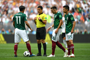 Hector Herrera Hirving Lozano Germany vs. Mexico: Group F - 2018 FIFA World Cup Russia