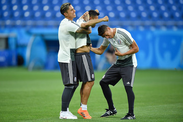 Hector Moreno Mexico Training And Press Conference - FIFA World Cup Russia 2018
