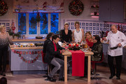 Carmen Nebel (L-R), Andy Borg, Matze Knop, Stefanie Hertel, Ella Endlich, Romina Power, Al Bano Carrisi and Alfons Schuhbeck attend the taping of the TV show 'Heiligabend mit Carmen Nebel' on November 27, 2014 in Munich, Germany.