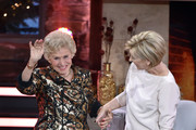 Actress Waltraut Haas and Carmen Nebel during the tv show 'Heiligabend mit Carmen Nebel' on November 23, 2016 in Munich, Germany. The show will air on December 24, 2016.