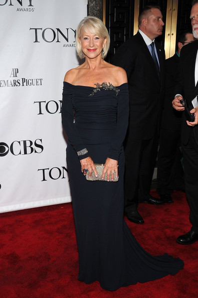 64th Annual Tony Awards - Arrivals [red carpet,carpet,clothing,dress,premiere,formal wear,fashion,event,flooring,shoulder,arrivals,helen mirren,tony awards,new york city,radio city music hall,64th annual tony awards]