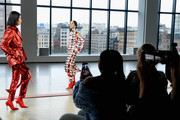 Pat Cleveland walks the runway at the Hellessy front row during New York Fashion Week: The Shows at Gallery II at Spring Studios on February 8, 2019 in New York City.