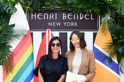 Henri Bendel creative director Pina Ferlisi and Louise Roe attend the Henri Bendel Surf Sport 2018 Collection Launch at The Bungalow on April 27, 2018 in Santa Monica, California.