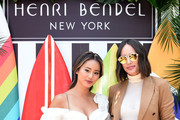 Jamie Chung and Louise Roe attend the Henri Bendel Surf Sport 2018 Collection Launch at The Bungalow on April 27, 2018 in Santa Monica, California.