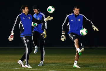 Henrique Hilario Chelsea Training Session