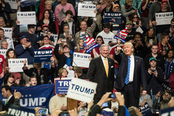 Henry McMaster Donald Trump Holds Campaign Rally in South Carolina