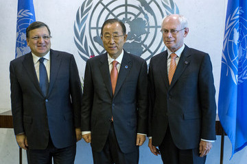 Herman Van Rompuy United Nations Hosts World Leaders