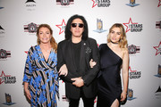 (L-R) Shannon Simmons, Gene Simmons and Sophie Simmons attend Heroes For Heroes: Los Angeles Police Memorial Foundation Celebrity Poker Tournament at Avalon Hollywood on November 10, 2018 in Los Angeles, California.