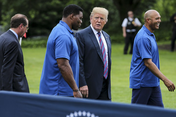 Herschel Walker President Trump Hosts White House Sports And Fitness Day