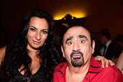 Actors Alice Amter and Ken Davitian attend  Her Highness Princess Antonia Schaumburg-Lippe Birthday Party Hosted By Sue Wong at The Cedars Palace on September 21, 2015 in Los Angeles, California.