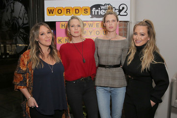 Hilary Duff Haylie Duff Hilary and Haylie Duff Host the Launch of Words with Friends 2 at Norah Restaurant