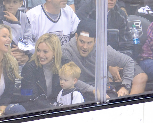 Hilary+Duff+Mike+Comrie+2014+NHL+Stanley